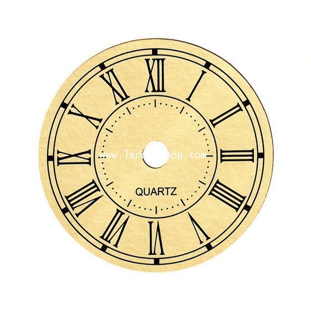 Paper Roman Dial 79mm. gold color