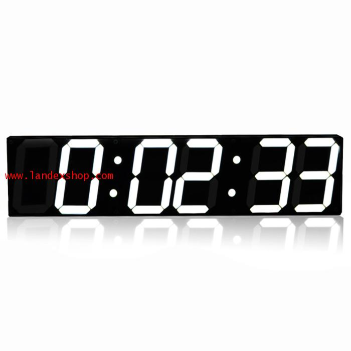 5.9 inch with 6 digits Jumbo Digital Led Wall Clock รุ่น AL-LED5.9 with 6 digits