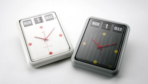 นาฬิกาแขวนผนังหรือตั้งโต๊ะ พร้อมปฏิทินแบบแผ่นพับ TWEMCO BQ-12 (Flip clock)