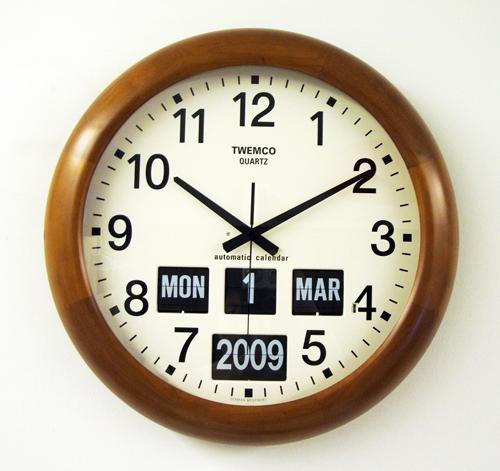 นาฬิกาพร้อมกับปฎิทินแบบแผ่นพับ TWEMCO BQ-368 (Flip clock)