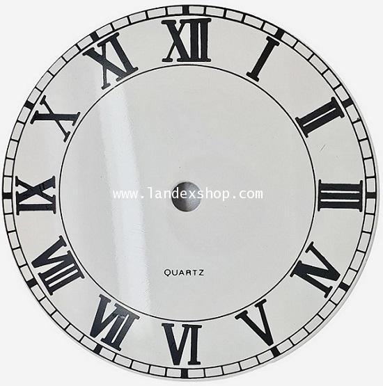 Aluminum Roman Dial 127 mm. White color