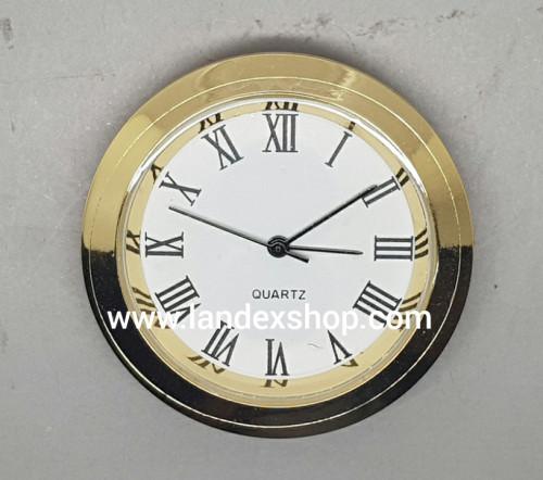 นาฬิกาฝังชิ้นงาน หัวข้อมือ 3R01  รุ่นหน้าปัดโรมัน พื้นขาว