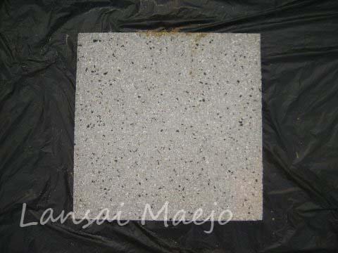 แผ่นทางเดินหน้าหินล้างขาวดำ 40 x 40 ซม.