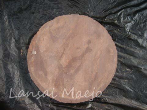 หินทรายกลมแดง40ซม