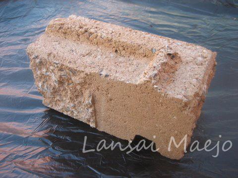 บล็อกผนังเข้ามุมขวาcastle stone