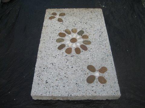 แผ่นทางเดินหินล้าง 30 x 50 ซม. ดอกเเฉียง