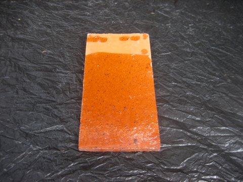 กระเบื้องหลังคาดินเผา เคลือบแดง(นว) 4 x 8 นิ้ว