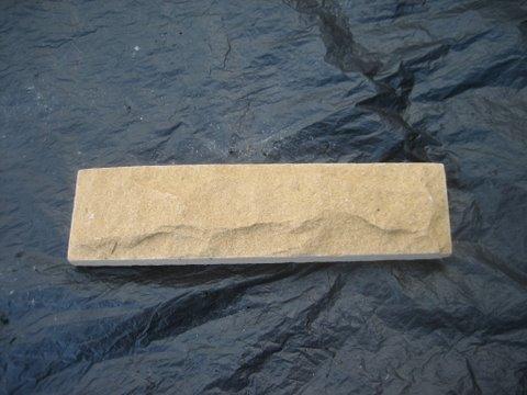 หินทรายตัด 5 x 20 ซม. เหลืองนูน