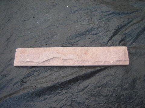 หินทรายตัด 5 x 30 ซม. ขาวนูน
