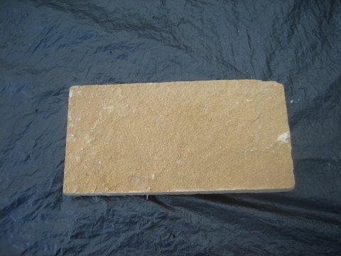 หินทรายตัด 10 x 20 ซม. เหลืองเรียบ