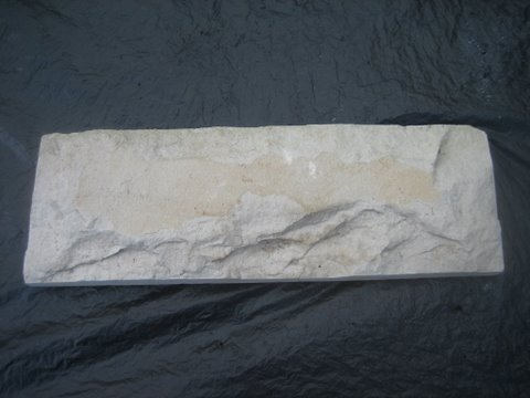 หินทรายตัด 10 x 30 ซม. ขาวนูน