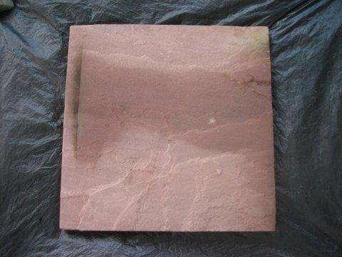 หินทรายตัดขอบ 30 x 30 ซม. แดงเรียบ