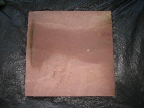 หินทรายตัดขอบ 40 x 40 ซม. แดงเรียบ