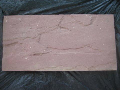 หินทรายตัดขอบ 30 x 60 ซม. แดง