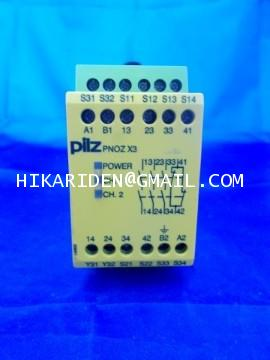 PILZ PNOZ X3 230VAC 24VDC 3n/o 1n/c 1so ราคา 5,000 บาท