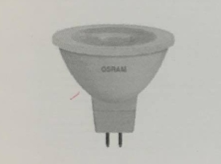 OSRAM หลอดแอลอีดี MR16 รุ่นสตาร์ (STAR) หรี่แสงไม่ได้ 4052899409255 SMR16 35 36 5W/827 ราคา 154 บาท