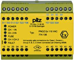 PILZ PNOZ EX 115VAC 3n/o 1n/c FM/USA