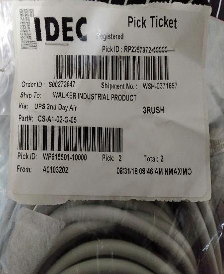 IDEC TYPE: CS-A1-02-G-05 ราคา1000บาท