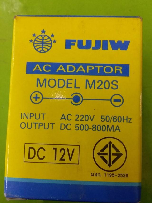 FUJIW AC ADAPTOR MODEL M02S DC 12V ราคา 350 บาท