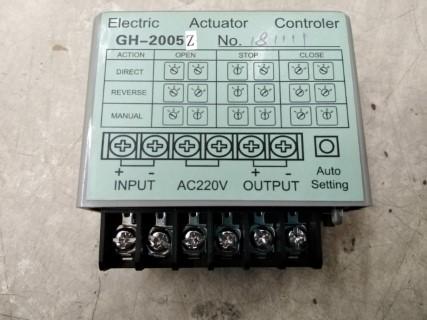 ELECTRIC ACTUATOR CONTROLLER GH-2005 AC200VDC ราคา 10602 บาท