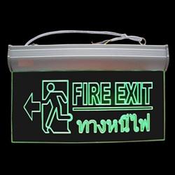 รุ่นF10 ป้ายไฟฉุกเฉิน Fire Exit รูปคนวิ่งทางหนีไฟซ้ายมือ สำรองไฟ2ชม. ชนิด LED Slim Line ราคา 801 บาท