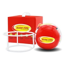 ลูกบอลดับเพลิงขนาดเล็กเฝ้าระวังเพลิงควบคุมดับไฟอัตโนมัติในบ้านอาคารอายุการใช้งาน5ปีสีแดง ราคา1530บาท