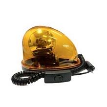 ไฟหมุนหลังเต่า ฐานแม่เหล็ก 12VDC แบบปลั๊กเสียบรถยนต์ สีเหลือง ราคา 855 บาท