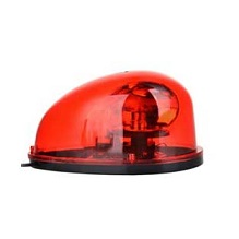 ไฟหมุนหลังเต่า ฐานแม่เหล็ก 12VDC แบบปลั๊กเสียบรถยนต์ สีแดง ราคา 531 บาท