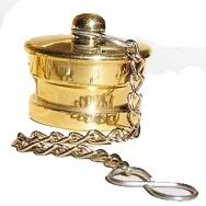 ฝาปิดสวมเร็วตัวผู้ทองเหลือง 2.5นิ้ว พร้อมโซ่คล้อง ราคา 441 บาท