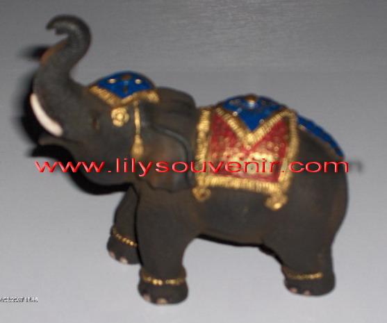 ช้างเรซิ่นเพ้นท์สี