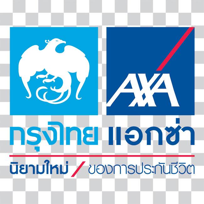 โลโก้ บริษัท กรุงไทย-แอกซ่า ประกันชีวิต จำกัด (มหาชน)