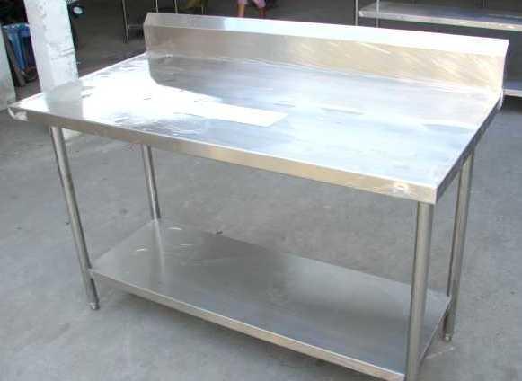 โต๊ะสเตนเลสแบบมีปีกพร้อมชั้นด้านล่าง No.T1