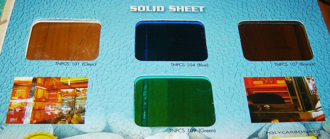 แผ่นโพลีคาร์บอเนตชนิดตัน Solid sheet No.PL4