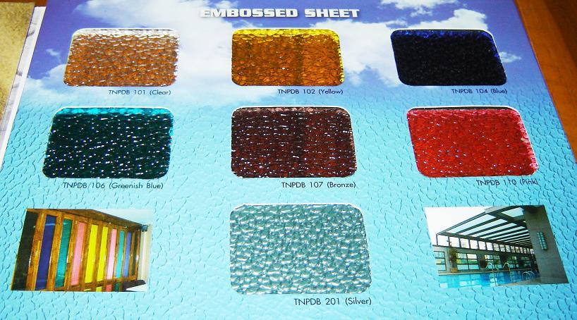 แผ่นโพลีคาร์บอเนตชนิดตัน Embossed sheet No.PL3