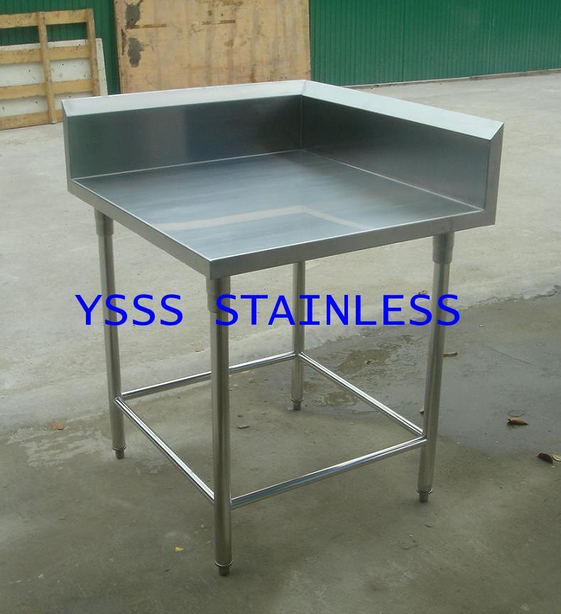 โต๊ะสเตนเลสมีปีกเข้ามุม NO.T32