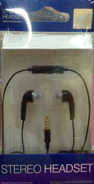 ขายหูฟัง Samsung Note, Note II ,S3 Black มีปุ่มเพิ่ม/ลดเสียงได้ (ส่งฟรี)