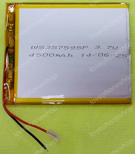 แบตเตอรี่ แท็บเล็ตจีน ทุกรุ่น 4500mAh รุ่นสาย2เส้น ขนาด 9X7.5X0.3 cm(ส่งฟรี)