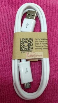 สาย USB2.0 แท้ สีขาว for Samsung Galaxy S1/2/3/4/5,Note1/2/3/4,Grand1/2,ACE2/3/4 และรุ่นฯลฯ ส่งฟรี