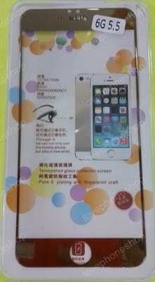 แผ่น ฟิลม์แก้วกันรอย GLASS 0.33mm Screen Protector for iPhone 6PLUS/5.5 สีทอง ส่งฟรี!!!