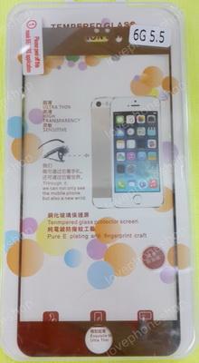 แผ่น ฟิลม์แก้วกันรอย GLASS 0.33mm Screen Protector for iPhone 6PLUS/5.5 สีเงิน ส่งฟรี!!!