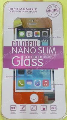 แผ่น ฟิลม์แก้วกันรอย GLASS 0.26mm Screen Protector for iPhone 5/5S หน้า-หลัง สีเงิน ส่งฟรี!!!