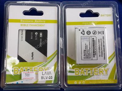 แบตเตอรรี่ Ais LAVA 4.0 iris 500/510   BLV-33 ความจุ 1400 mAh (ส่งฟรี)
