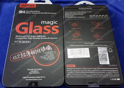 ฟิลม์กันรอย Remax 9H Magic Glass Film for Samsung Galaxy Note4/N910 (ส่งฟรี!!!)