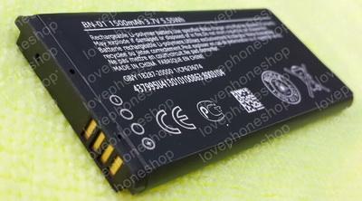 แบตเตอรี่ Nokia BN-01 ความจุ 1500mA 3.7V 5.55Wh (ส่งฟรี)