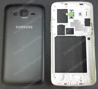 ชุดเคสกลางและฝาหลัง Samsung Galaxy Grand 2(G7106) สีดำ (Original Genuine Part) ส่งฟรี!