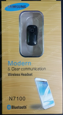 Bluetooth Mono handset Samsung N7100 สีดำ (ส่งฟรี)