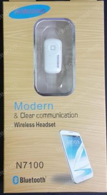 Bluetooth Mono handset Samsung N7100 สีขาว (ส่งฟรี)