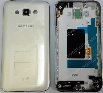 ชุดเคสกลางและฝาหลัง Samsung Galaxy E7 (E7000) สีขาว (Original Genuine Part) ส่งฟรี!