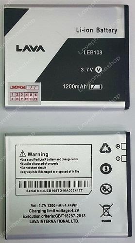 แบตเตอรรี่ Ais LAVA 4.0 iris 505,512,515 / LEB108 ความจุ 1200 mAh (ส่งฟรี)