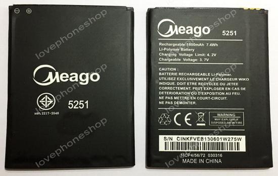 แบตเตอรี่ Meago สำหรับ Wiko รุ่น Pulp(5251),Robby (ส่งฟรี)